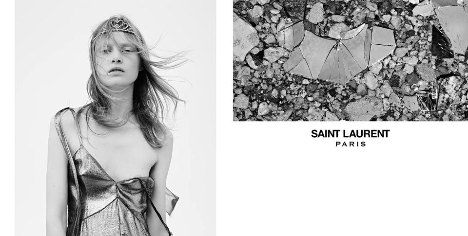 d62d4cbbcb0 Saint Laurent's Spring 2016 Campaign Shows How to Wear a Grunge Tiara