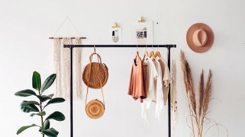 23 Ways to Turn Your Garment Rack into a Genuine Piece of Home Decor