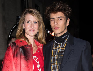 Laura Dern's 17-Year-Old Model Son Just Walked His First Fashion Week Runway