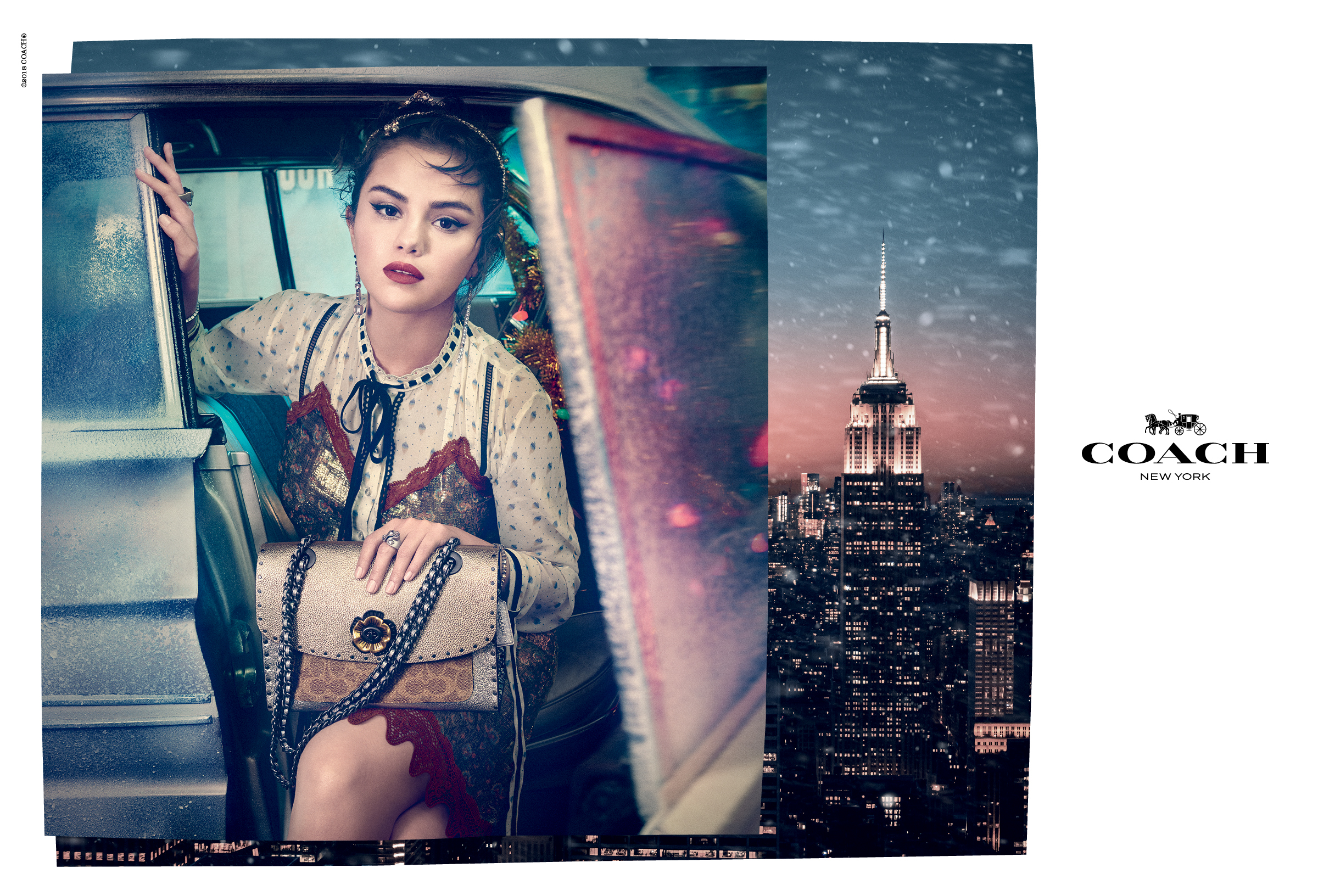 Selena Gomez's Coach Holiday Campaign Will Have You Reaching for the Tinsel and Peppermint Schnapps