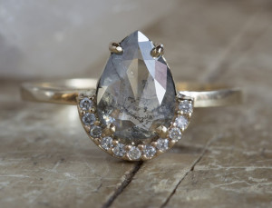 'Salt and Pepper' Diamonds Are the Ring Trend You're About to See Everywhere