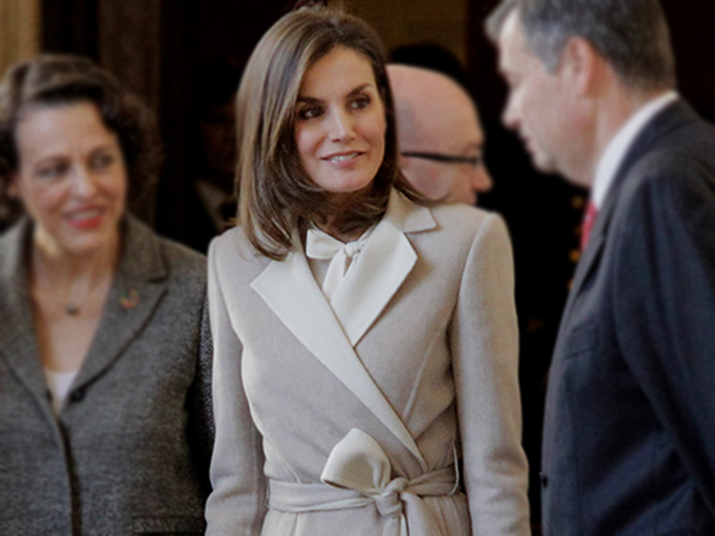 We'd Do Anything to Get Our Hands on Queen Letizia's Gorgeous Coat
