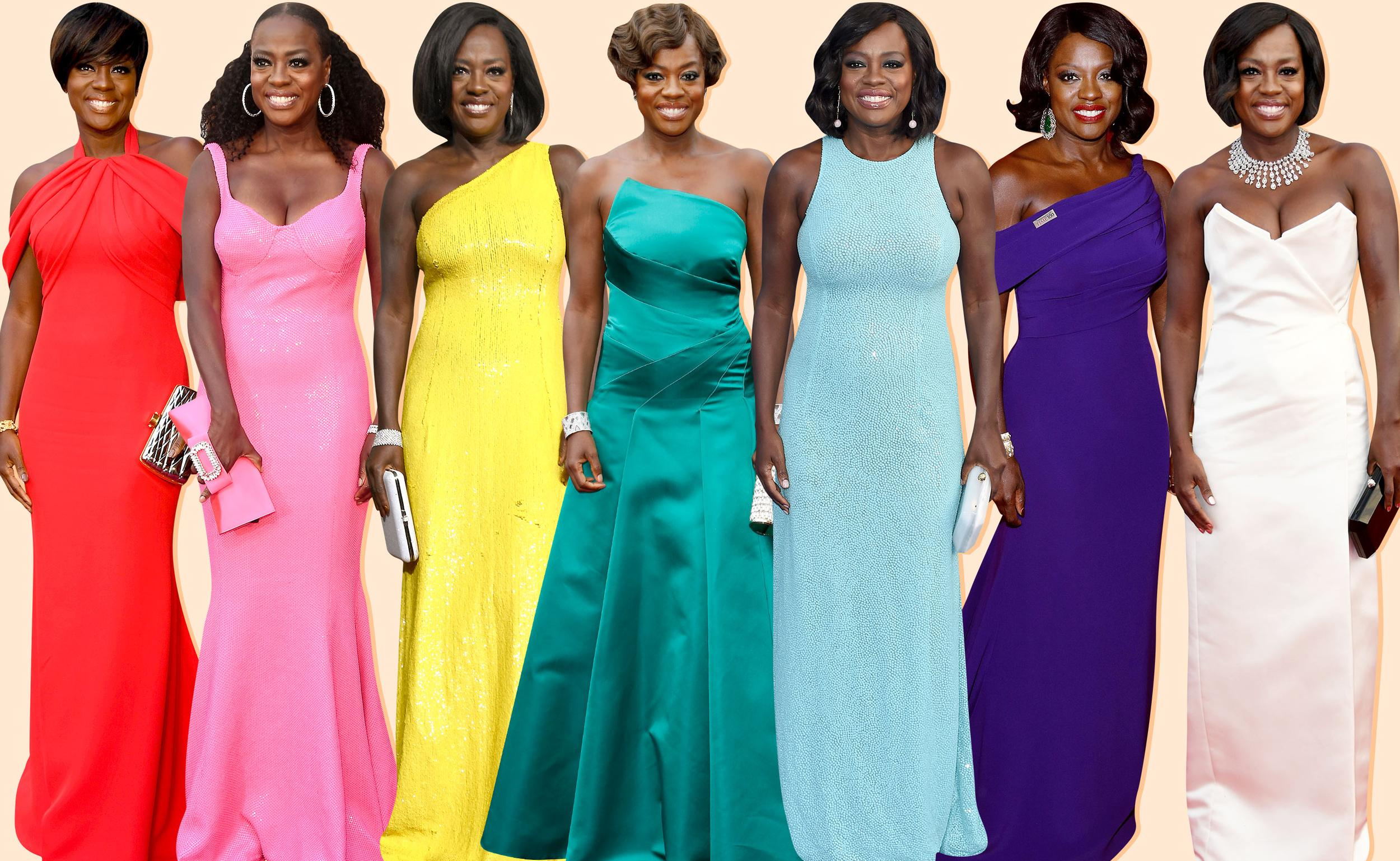 A Timeline of Viola Davis's Wondrously Colorful Red Carpet Gowns