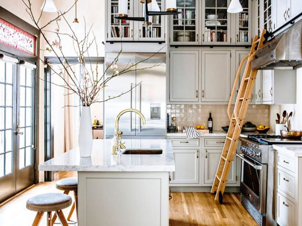 Kitchen Library Ladders Are Trending And Be Still Our