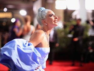BEVERLY HILLS, CA - JANUARY 06: 76th ANNUAL GOLDEN GLOBE AWARDS -- Pictured: Lady Gaga arrive to the 76th Annual Golden Globe Awards held at the Beverly Hilton Hotel on January 6, 2019. -- (Photo by Christopher Polk/NBC/NBCU Photo Bank)