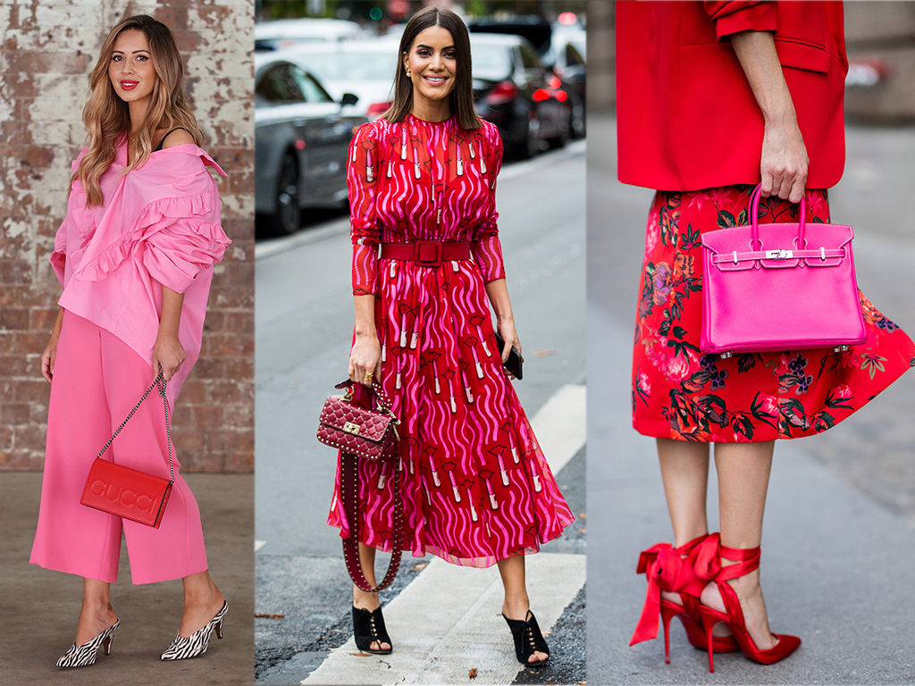 Want In on This Season's Hottest Color Duo? Here's How to Rock Pink & Red