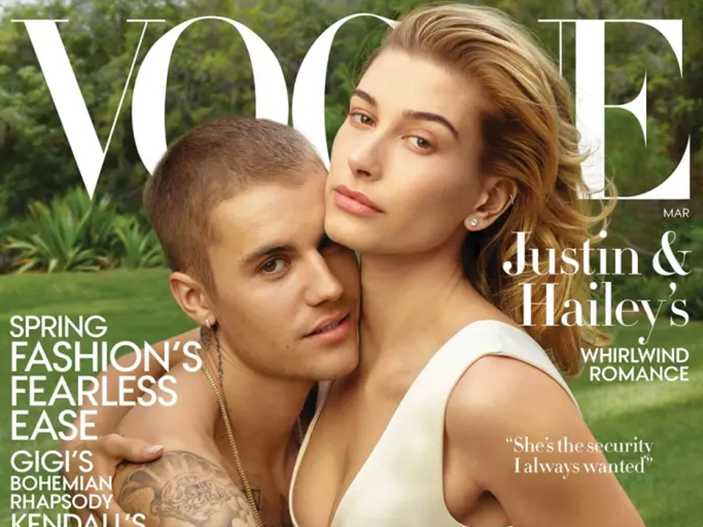 Justin and Hailey Bieber Cover the March 2019 Issue of 'Vogue'