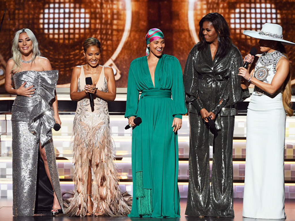 Michelle Obama Showed Up at the Grammys With the Girl Group of Your Dreams