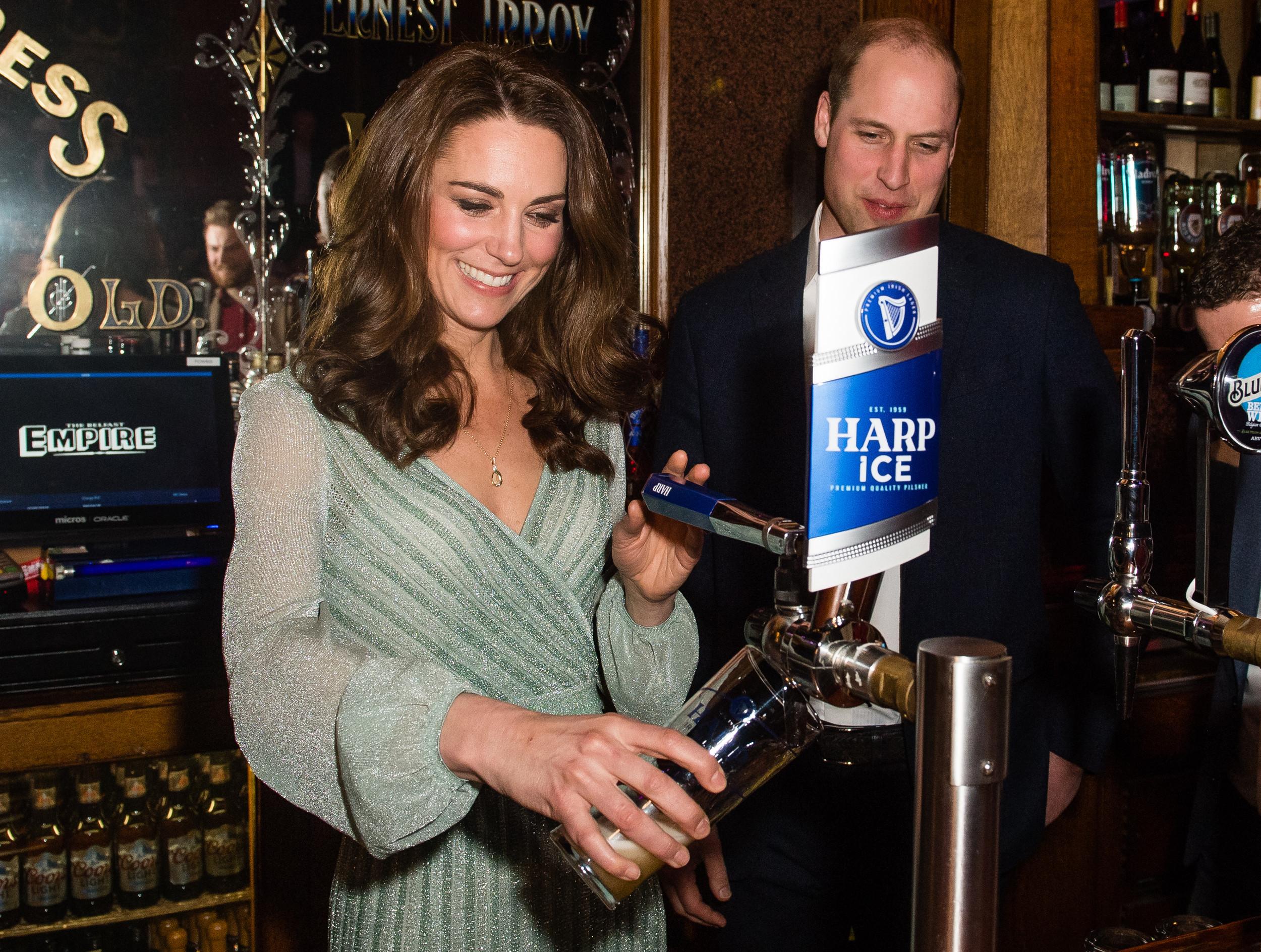 Kate Middleton Dresses Like a Disney Princess to Pour a Pint