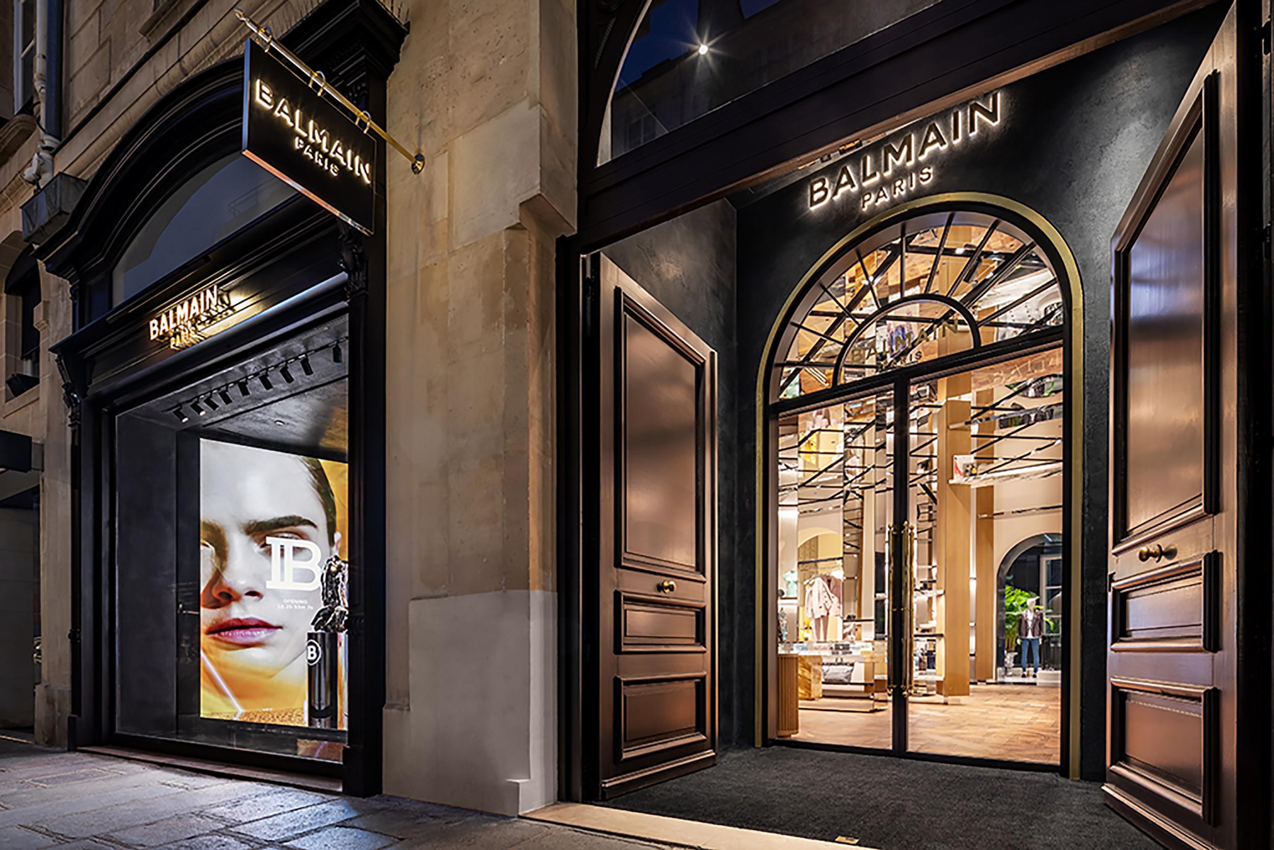 Inside Balmain's Extravagant New Boutique