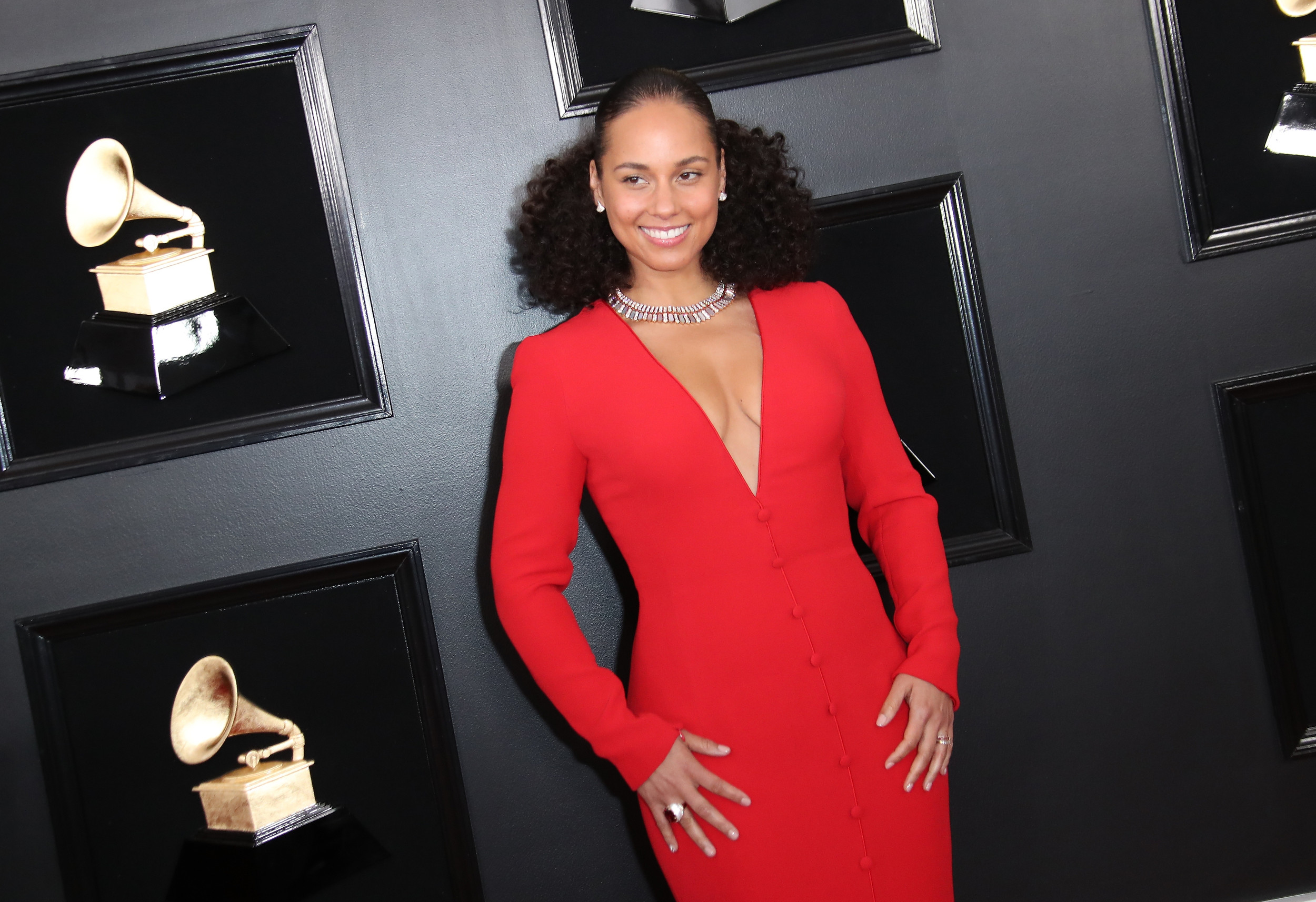 LOS ANGELES, CA - FEBRUARY 10: Alicia Keys attends the 61st Annual GRAMMY Awards at Staples Center on February 10, 2019 in Los Angeles, California. (Photo by Dan MacMedan/Getty Images)