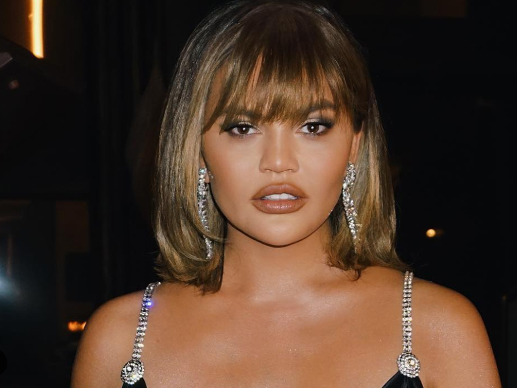 Chrissy Teigen Just Debuted a New Hairstyle, and It Involves *Bangs*