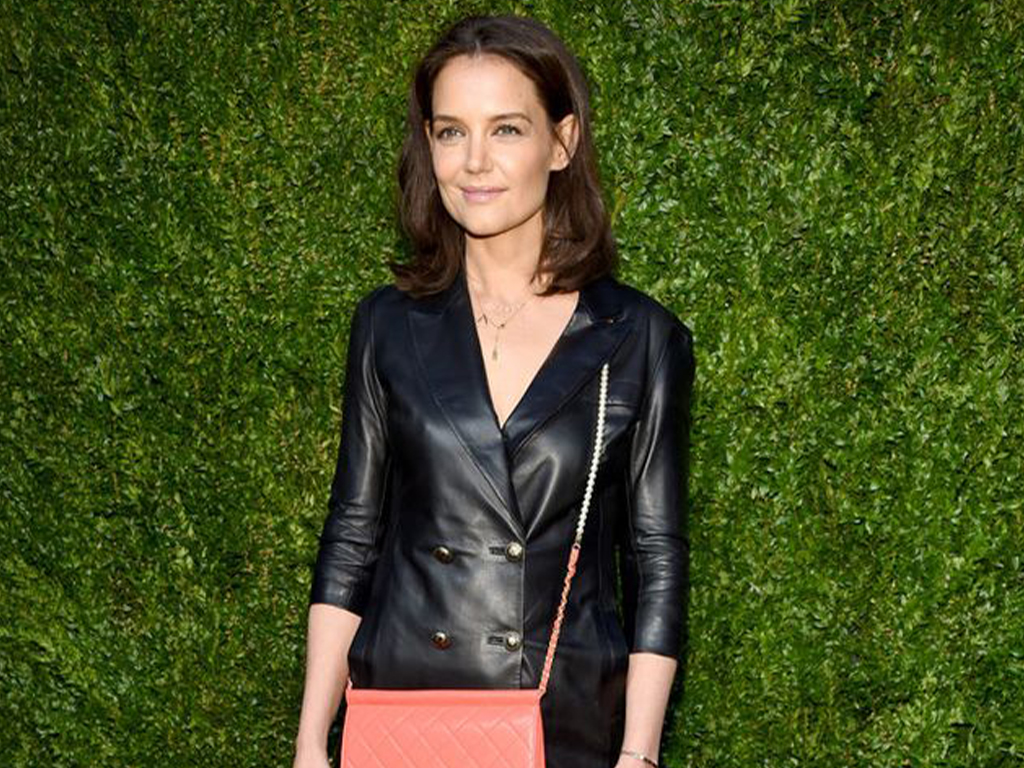 Katie Holmes Steps Out of Her Style Comfort Zone in a Leather-on-Leather Look