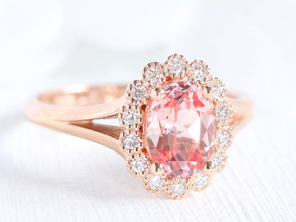 Pretty in Pink: Celebs Can't Get Enough of This Unexpected Engagement Ring Trend