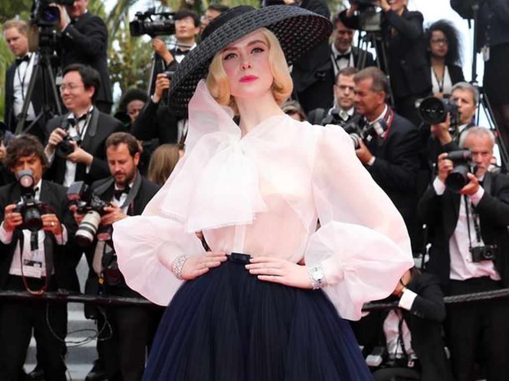 Elle Fanning's 1950s-Inspired Cannes Look Took Over 400 Hours to Make