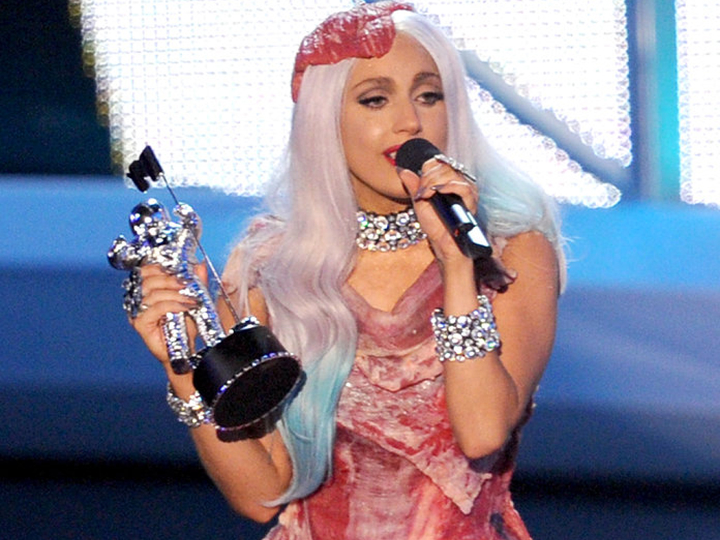 Lady Gaga's Infamous Meat Dress Has a New Home in Las Vegas.jpg