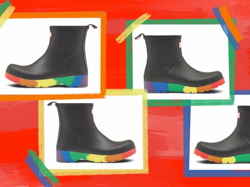 Hunter Is Celebrating Pride Month with a Cute Rainbow Boot (!!) That Gives Back (!!!)