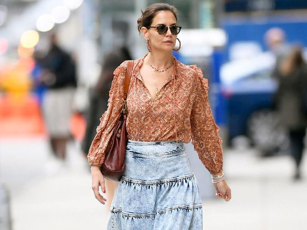 Katie Holmes Just Made a Great Case For Copying Someone Else's Outfit