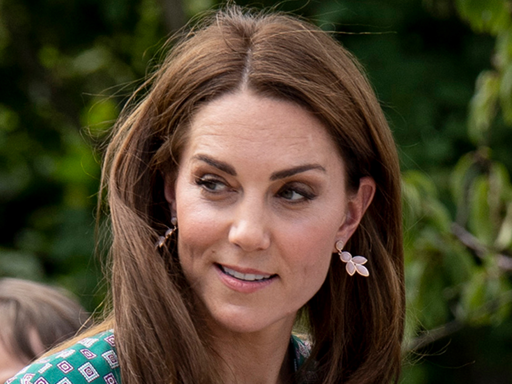 Kate Middleton Wears a Green Sandro Dress & Espadrilles for Garden Picnic