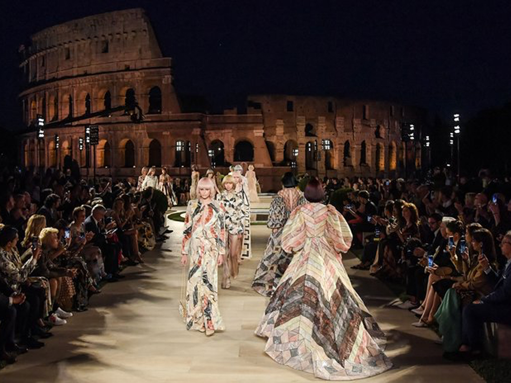 The Clothes at Fendi Couture's Show Were Stunning, But the Backdrop Stole the Show