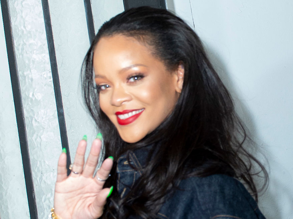 Rihanna Declares Fall's Imminent Arrival with a Sweaterdress and Embellished Heels