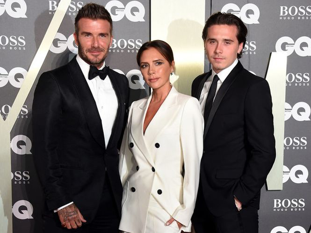 Three Beckhams Wore Amazing Suits for This Family Fashion Moment
