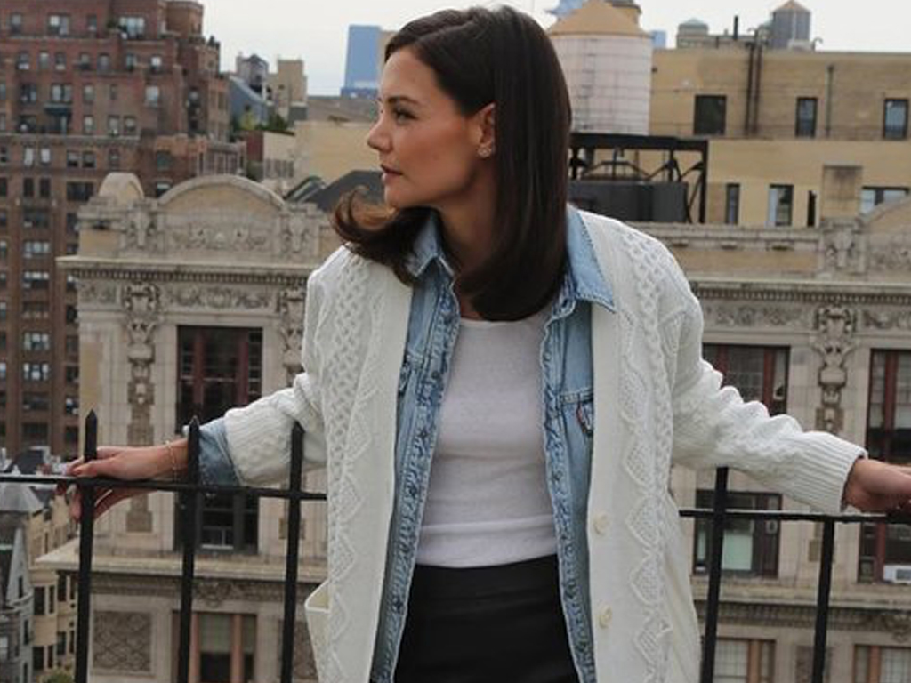 Katie Holmes Just Showed Us a New Way to Wear Our Cardigans