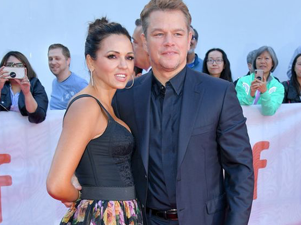 Matt Damon and Wife Luciana Barroso Stepped Out In Coordinated Outfits