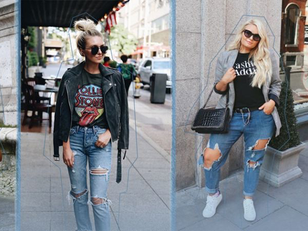 Ripped Jeans Outfit Ideas: 29 Street Style Looks StyleCaster  StyleCaster